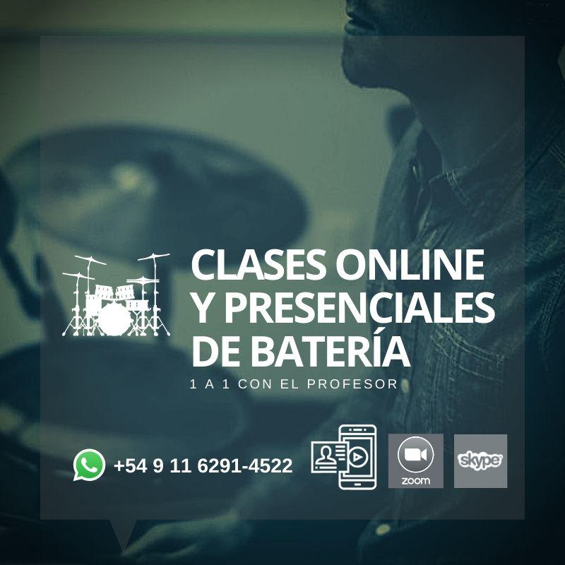 Clases de Batería Online o presenciales