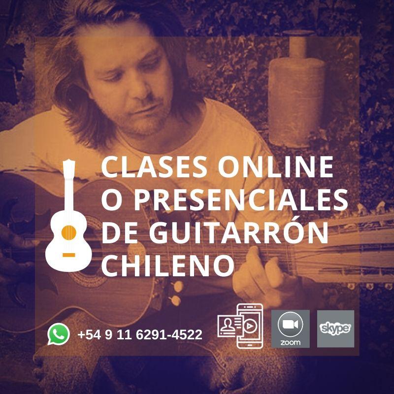 Clases de Guitarrón Chileno, de forma presencial y Online a todo el mundo