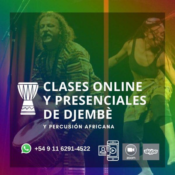 Clases de Djembè y Percusión Africana, presenciales y online