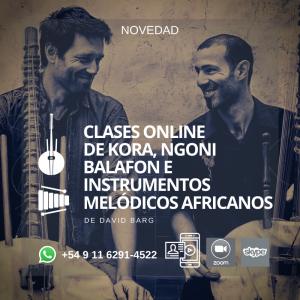 Clases Online y Presenciales de Kora, Ngoni, Balafón y Percusión Africana