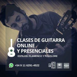 CLASES DE GUITARRA ESTILO FLAMENCO Y FOLCLORE