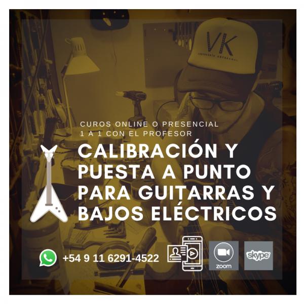 Curso Online o Presencial de Calibración y Puesta a punto para Guitarras y Bajos eléctricos