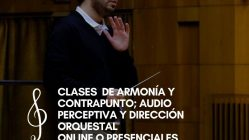 Clases Online o Presenciales de Armonía y Contrapunto; Audio Perceptiva y Dirección Orquesta