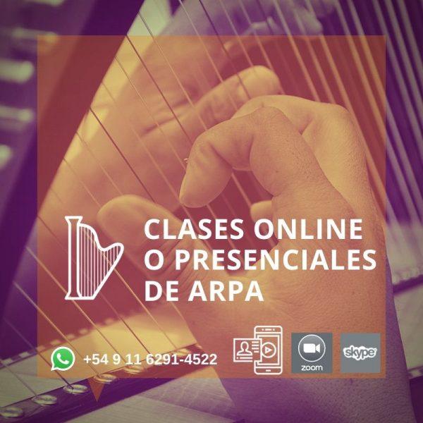 Clases de Arpa Online y Presenciales