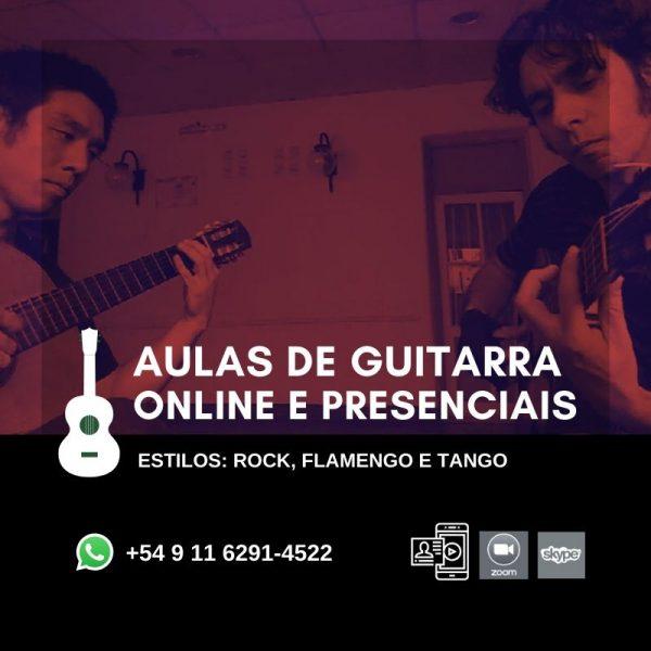 AULAS DE GUITARRA ONLINE E PRESENCIAIS
