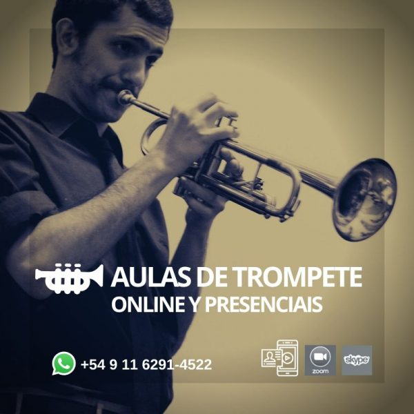 Aulas de trompete - online e presenciais