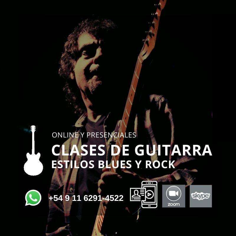 CLASES DE GUITARRA ESTILO BLUES ROCK