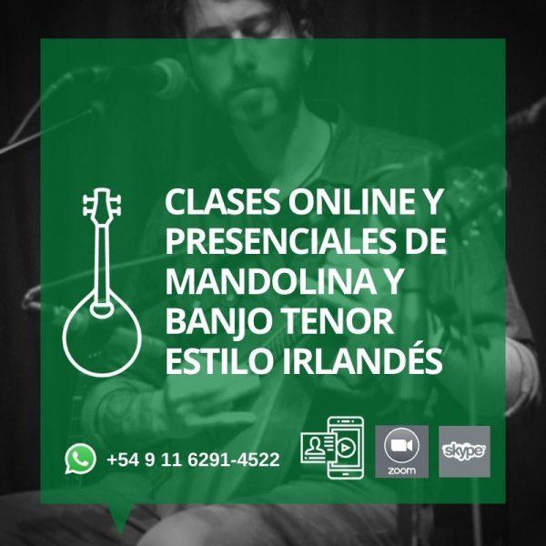 Clases Online y presenciales de Mandolina y Banjo tenor estilo Irlandés