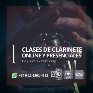 Clases Online y presenciales de Clarinete y Clarinete bajo