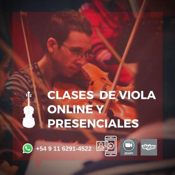 Clases de Viola online y presenciales estilos Clásico y Popular