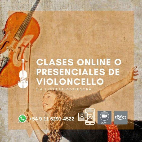 Clases y Talleres de Violoncello Online y presenciales con protocolo
