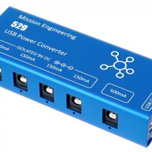 Fuente para pedales Mission 529 - 5 Salidas Aisladas - Alimentación USB