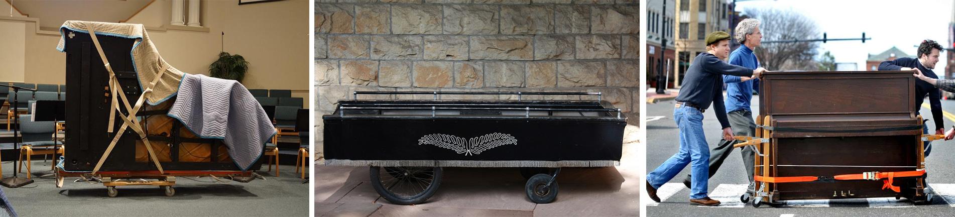 transporte de piano e instrumentos
