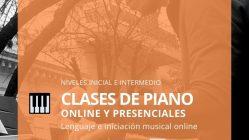 Clases de Piano, lenguaje e iniciación musical online